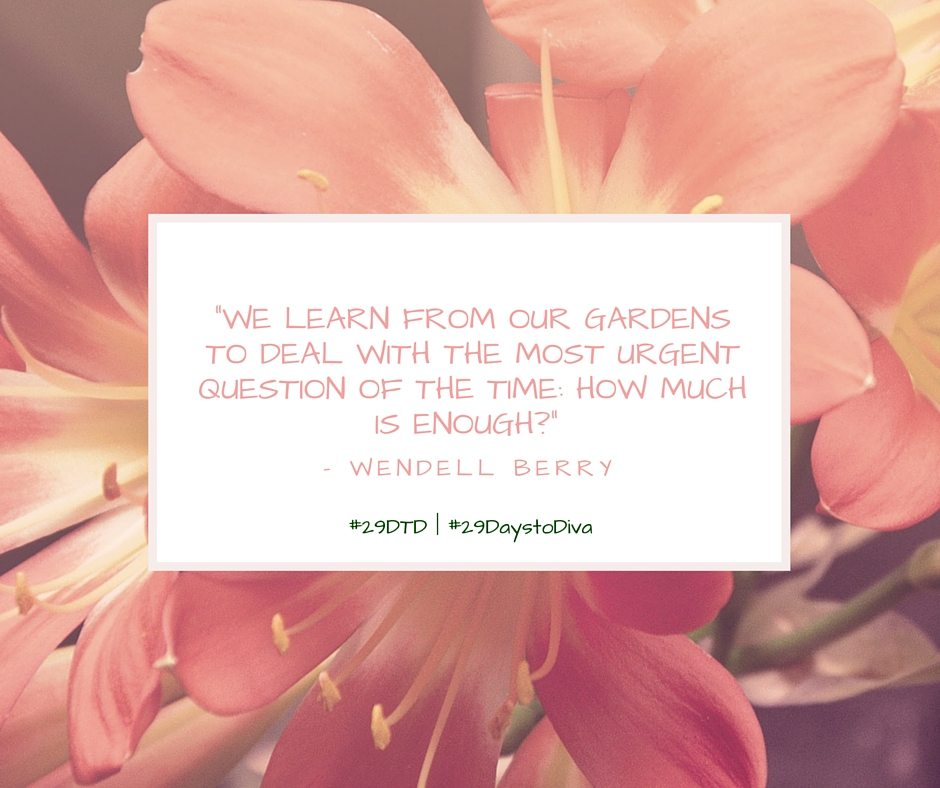 #29DTD | #29DaystoDiva | Are you planting, growing, or harvesting? | Sybaritic Singer